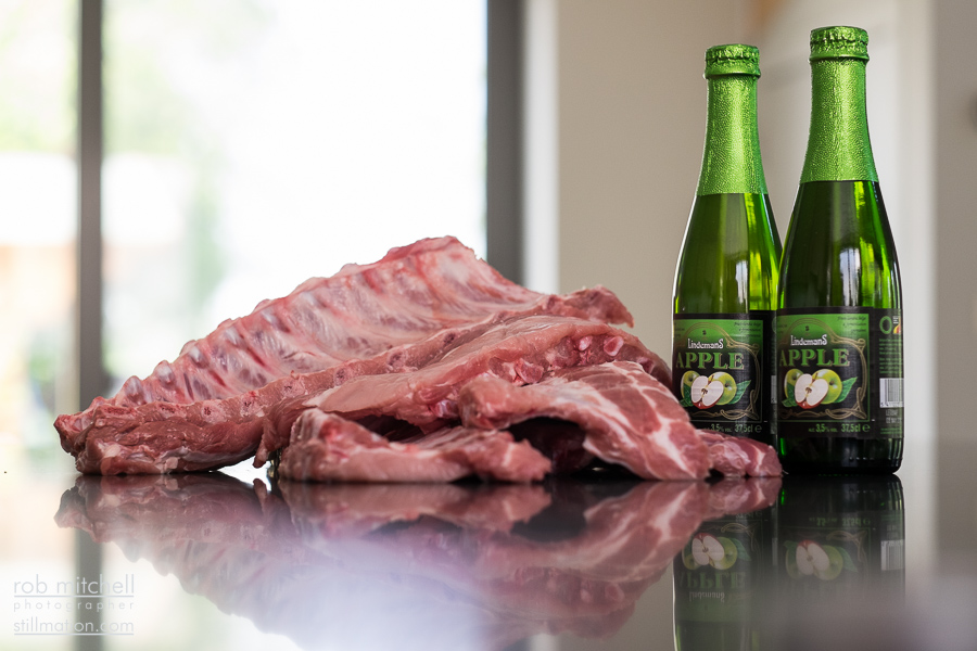 Ribs and Lindemans Apple
